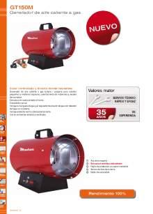 GT150M. Generador de aire caliente a gas.