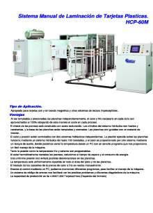 HCP-60M. Sistema Manual de Laminación de Tarjetas Plasticas.
