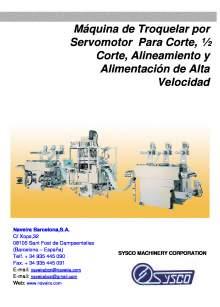 HHC-10. Máquina de Troquelar por Servomotor Para Corte, ½ Corte, Alineamiento y Alimentación de Alta Velocidad.
