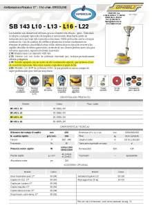 "HIPERCLIM. GIBLI. Polishing machine-Rotary 17"" - 154 v/min. ERGOLINE"