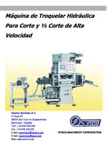 HSC. Máquina de Troquelar Hidráulica Para Corte y ½ Corte de Alta Velocidad