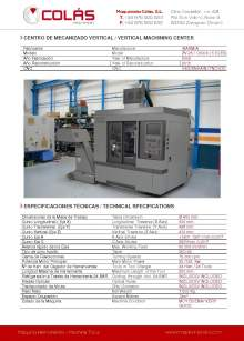 IBARMIA ZV-25 - U 600. Vertical machining center.