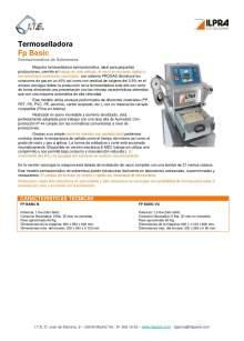 ILPRA  FP Basic. Termoselladora semi-automática