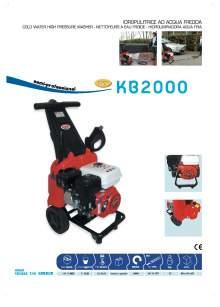 KB2000. Hidrolimpiadora autónoma semi-profesional de agua fría.