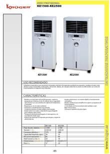 KE1500-KE2500. Enfriador evaporativo.