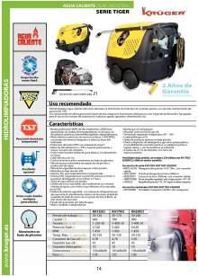 KH120CI TIGER . Hidrolimpiadora de agua caliente para uso industrial.