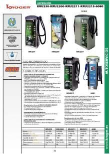 KRU230-KRU2200-KRU2211-KRU2215-6080. Equipo de aspiración.