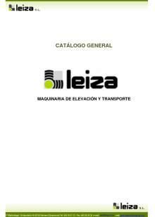 LEIZA SL. Catálogo general