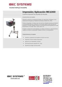 MC-1000. Impresora-aplicadora de etiquetas.