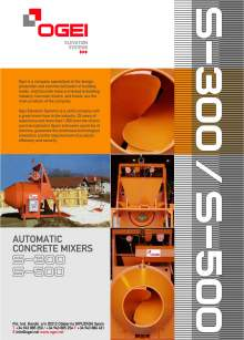OGEI S-300-500. Automatic concrete mixers
