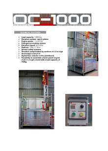 OGEI OC-1000. Technical features