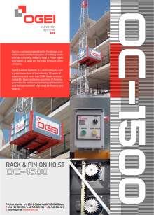 OGEI OC-1500. Rack&Pinion Hoist