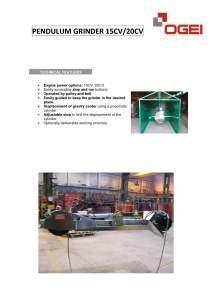 OGEI Pendulum grinder 15 CV/20CV