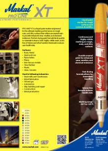PROLINE XT. Industrial marking pen for rough surfaces.