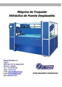 RBC. Máquina de Troquelar Hidráulica de Puente Desplazable.