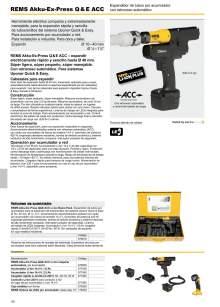REMS AKKU-EX-PRESS Q & E ACC. Expandidor de tubos por acumulador con retroceso automático