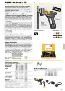 REMS AX-PRESS 40. Prensadora axial por acumulador