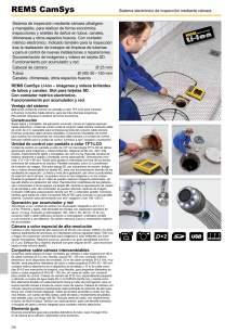 REMS CAMSYS. Sistema electrónico de inspección mediante cámara