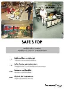 SAFE S STOP. Anti-slip vinyl floorings.
