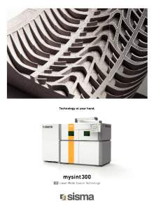 SISMA LASER. MY SINT 300. 3D printer through the fusion of metals by laser