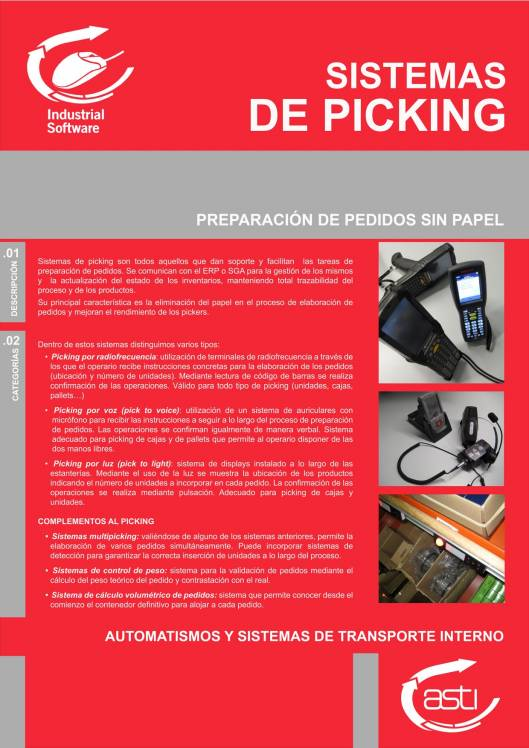 Software para preparación de pedidos sin papel ASTI 1