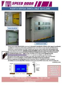 SPEED DOOR SD-CLEAN. High-speed roll-up door