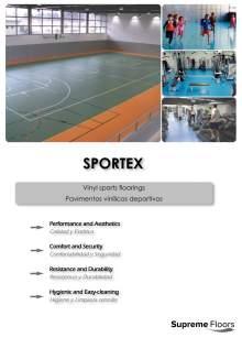SPORTEX. Vinyl sports floorings.