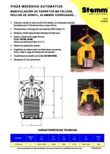 STEMM 11.0034. Pinza de elevación mecánica