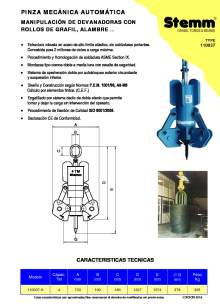 STEMM 11.0037. Pinza de elevación mecánica