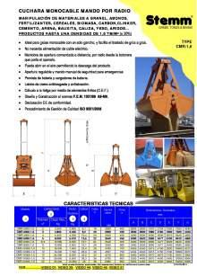 STEMM CMR-1,6. Bivalva para material a granel.