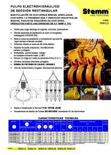 STEMM PHR-2,5. Pulpo hidráulico.