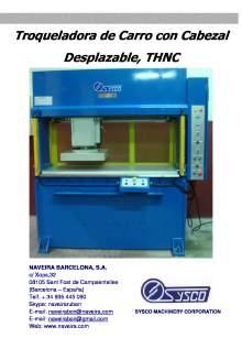 THNC. Troqueladora de Carro con Cabezal Desplazable,