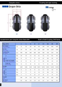 UNEFLEX Serie DVS. Flexible coupling for conical cap.