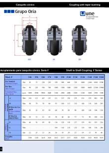 UNEFLEX Serie F. Flexible coupling for conical cap.
