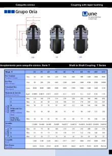UNEFLEX Serie T. Flexible coupling for conical cap.
