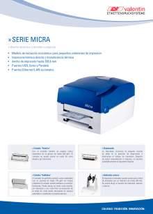 VALENTIN Micra. Impresora de etiquetas