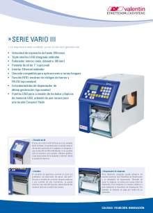 VALENTIN Vario III. Impresora de etiquetas