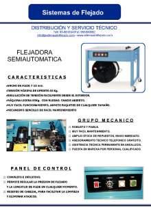XIFRE  TP 202. Flejadora semiautomatica
